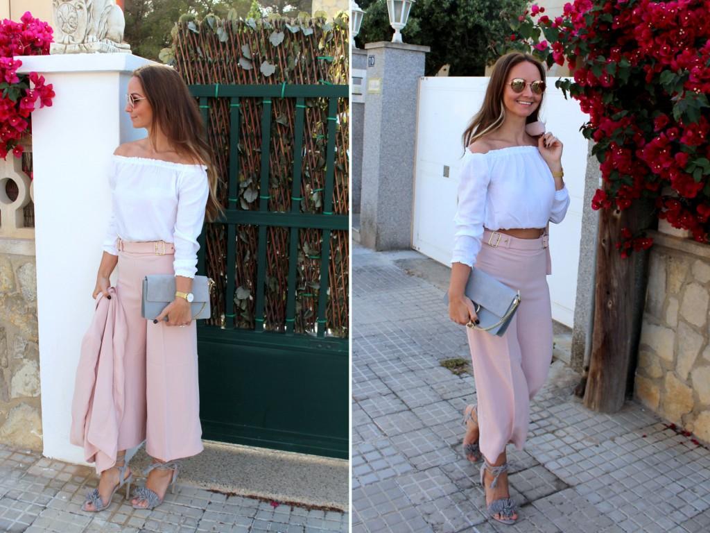 culotte hose rosa