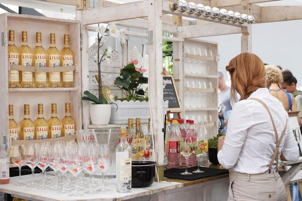 Lillet versorgte mit einem süßen Stand die Gäste bei der Platform Fashion mit leckeren Getränken. Ein Ärger, dass ich mit dem Auto angereist war...