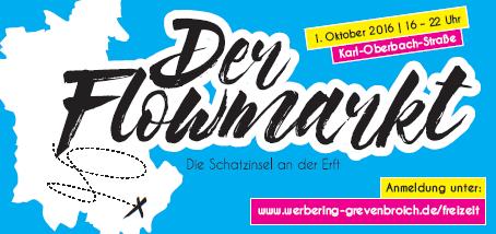 """Wer Veranstaltungen wie """"Nachtkonsum"""" oder """"Beats & Bummel"""" kennt und liebt, der kommt am 01.10.2016 auch in Grevenbroich beim Flowmarkt auf seine Kosten."""