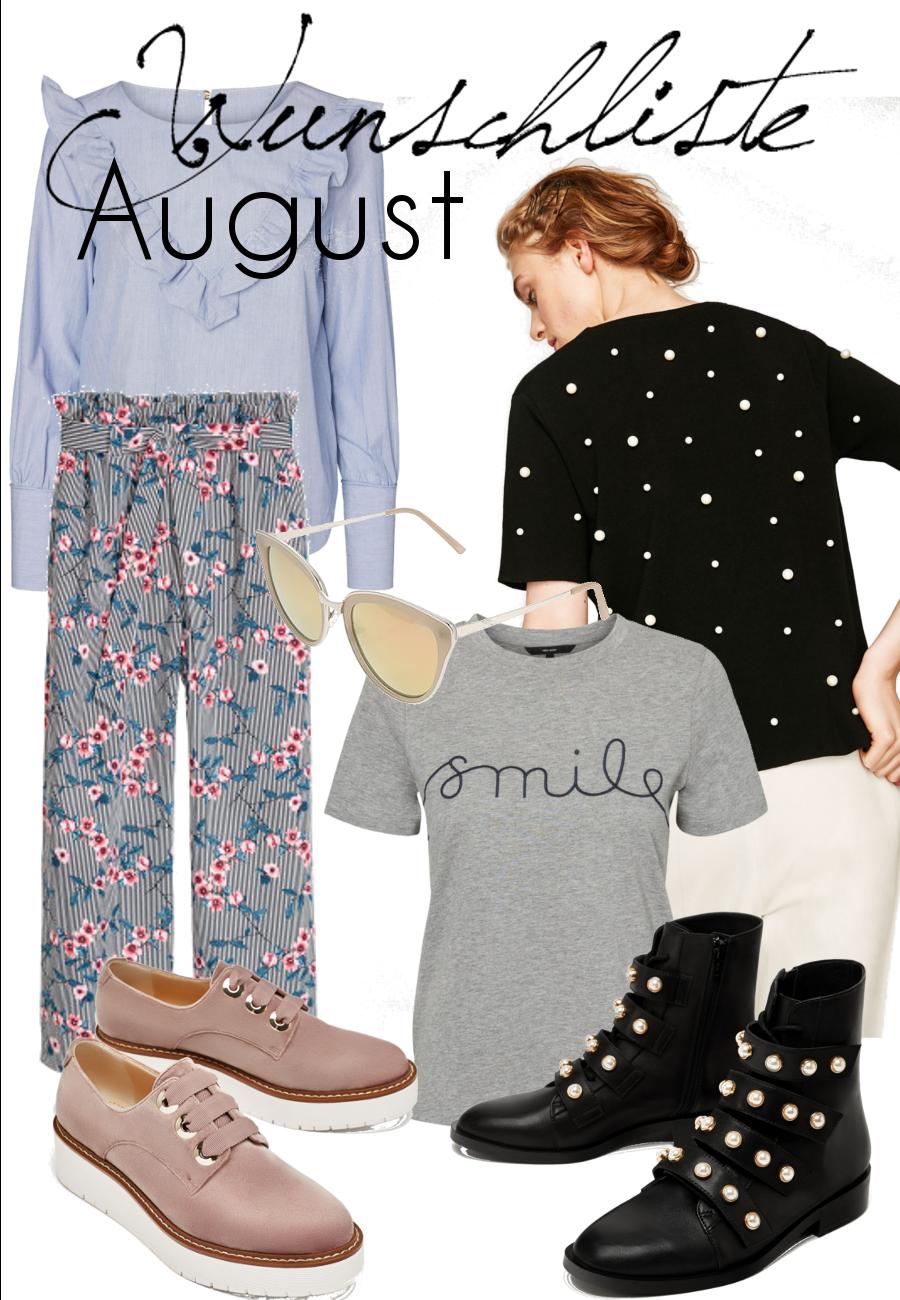 Auf meiner Wunschliste August haben schon einige herbstlichere Teile Platz gefunden und es ist eine Mischung aus Basics und angesagten Trendteilen geworden. Überzeugt euch selbst.