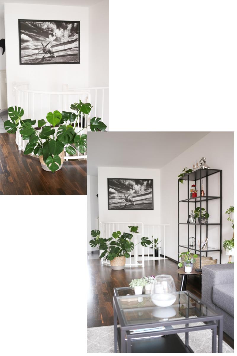 Nach 5 Monaten in unsere Wohnung bin ich so richtig im Interior-Fieber. Deswegen wird es Zeit für eine erste Roomtour durch unser neues Zuhause. Beginnen wir im Wohnzimmer, meinem Lieblingsraum. Hier faulenzen wir auf der Eckcouch vor dem großen Fenster mit Blick in den Garten und meinen vielen Pflanzen.